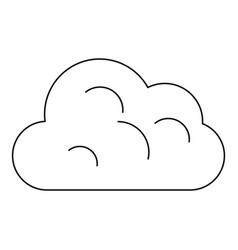 Big cloud icon outline style vector