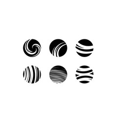black globe icons sign elements vector image