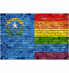 Brick wall nevada and gay flags vector