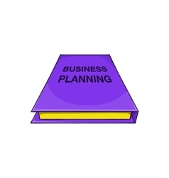 Business plan notebook icon cartoon style vector image