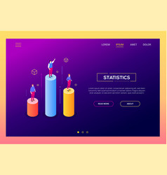 business statistics - modern isometric web vector image