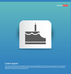 cake icon - blue sticker button vector image