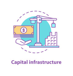 capital infrastructure concept icon vector image