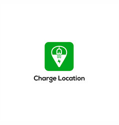 charge location logo vector image