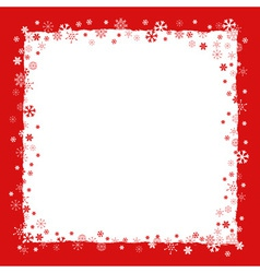 Christmas background with snowflakes border vector