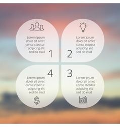Circle line infographic Template for cycle vector image