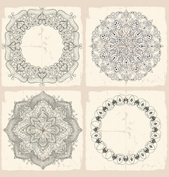 circular baroque patterns vector image