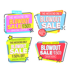 Closeout sale template banner in frame set vector