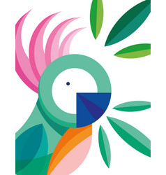 Cockatoo bird feather foliage nature fauna flora vector