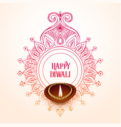 Creative happy diwali background design vector