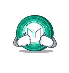 Crying maker coin mascot cartoon vector