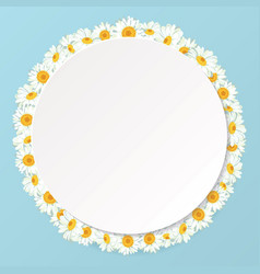 daisy chain round frame with shadow for your text vector image