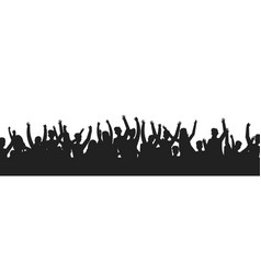 Dancing people crowd silhouettes concert audience vector