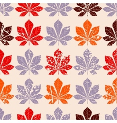 Decorative chestnut pink leaves - silhouette vector