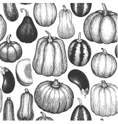 different natural vegetables seamless pattern vector image