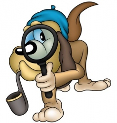 dog detective vector image