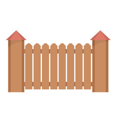 Fence with turret icon flat style vector