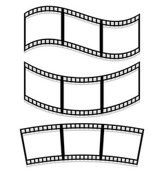 Filmstrips isolated on white with transparent vector