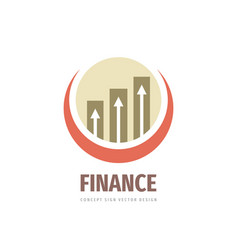 finance business logo design fintech icon vector image