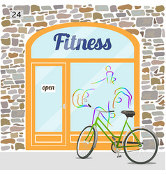 Fitness club building vector