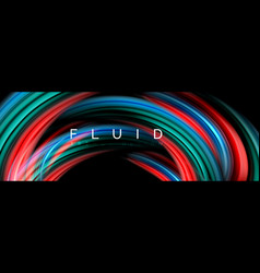 fluid color motion concept vector image