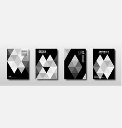 future template design with monochrome triangle vector image
