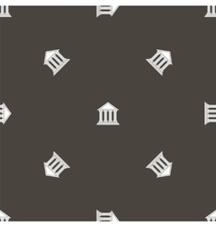 Greek Temple Icon Seamless Pattern vector image