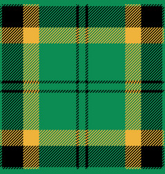 green black and yellow tartan plaid seamless patte vector image