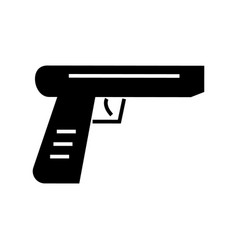gun icon black sign on vector image