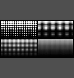 halftone set of vertical gradient dots backgrounds vector image