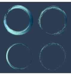 Hand drawn line circle with place for your text vector image