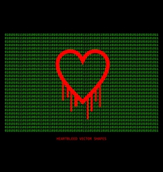 Heartbleed openssl bug shape bleeding heart vector image