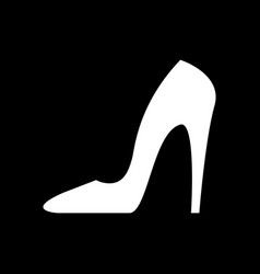heel black icon black vector image