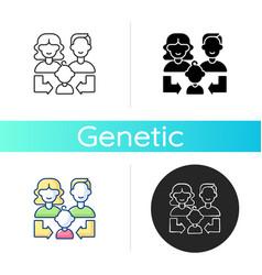 Heredity icon vector