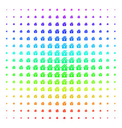 Home keyhole icon halftone spectral grid vector