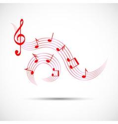 Icon of wavy music in color vector