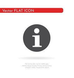 info icon for web business finance and vector image