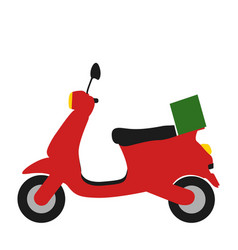 isolated motorcycle icon vector image