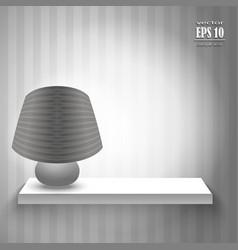 lamp on shelf vector image