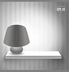Lamp on the shelf vector