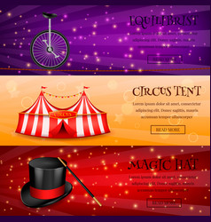 magic circus banners collection vector image