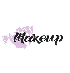 makeup black text vector image