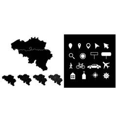 Map belgium administrative regions departments vector