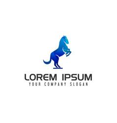 modern horse logo design concept template vector image