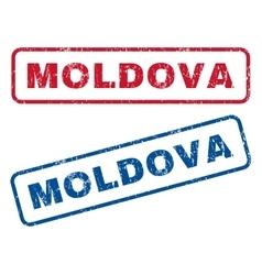 Moldova Rubber Stamps vector