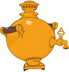 Old Russian samovar vector image