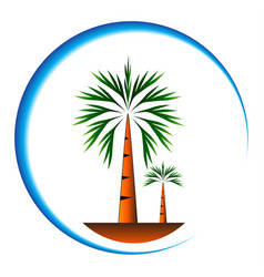 Palm trees icon cartoon vector