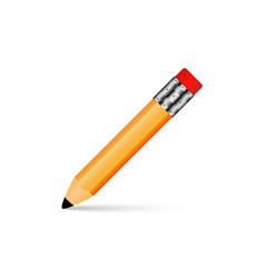 pencil with shadow on a white background eps 10 vector image