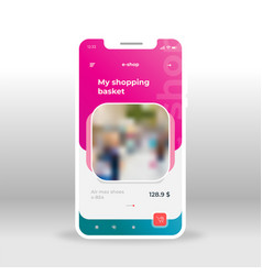 pink e-shop ui ux gui screen for mobile apps vector image