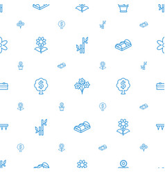 Plant icons pattern seamless white background vector